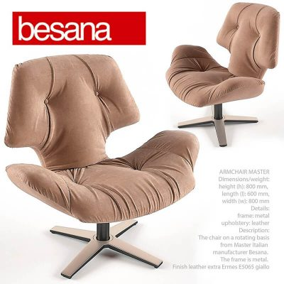 Besana Master Armchair 3D model