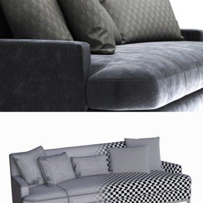 Bker Celestite Vol.02 Sofa 3D Model 3