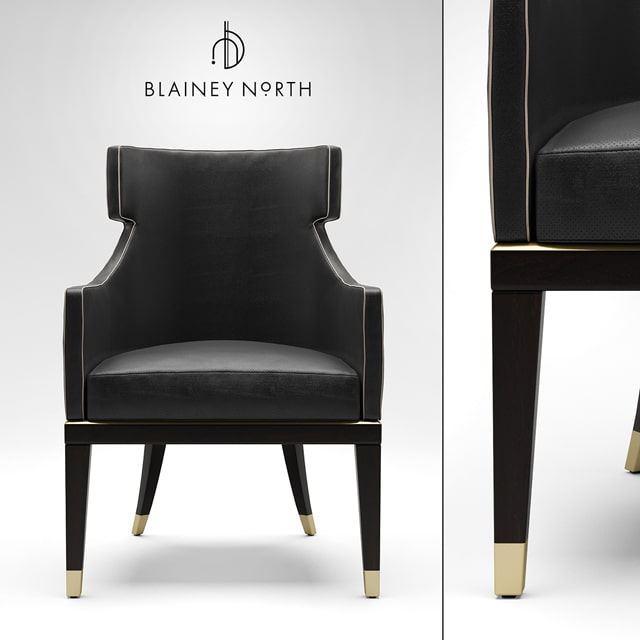 Blainey North Hercule Dining Chair 3D Model 2