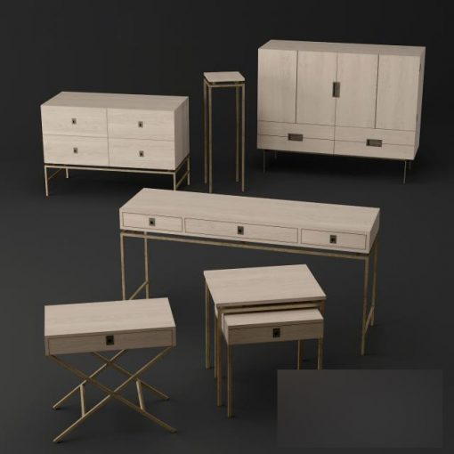 Blanc D'ivoire - London Collection - Sideboards 3D Model