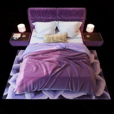 Blest Milan Bed 3D Model