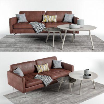 Bo-Concept Osaka Sofa 3D Model