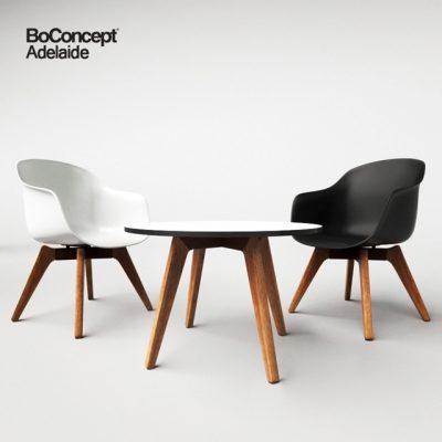 BoConcept Adelaide Table & Chair 3D Model