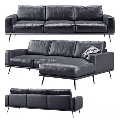 BoConcept Carlton Black Sofa 3D Model
