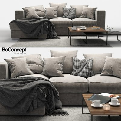 BoConcept Cenova Sofa Set-03 3D Model