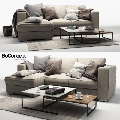 BoConcept Cenova Sofa Set-06 3D Model