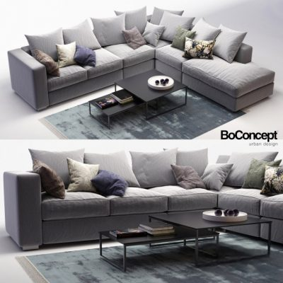 BoConcept Cenova Sofa Set-07 3D Model