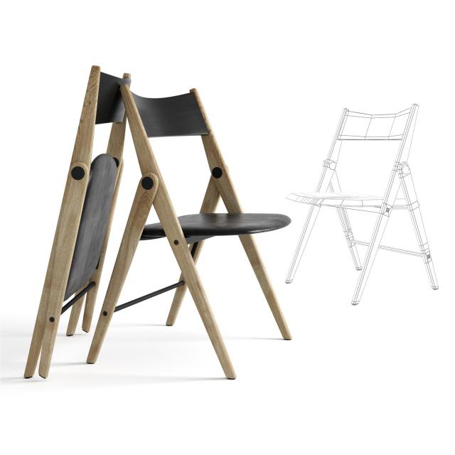 BoConcept Folding Chair 3D Model