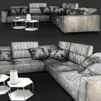 BoConcept Hampton Sofa 3D Model 2