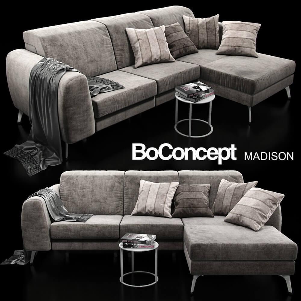 sofa boconcept madison 3d model for download. Black Bedroom Furniture Sets. Home Design Ideas