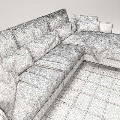 Bontempi Mizar L-Shaped Sofa 3D Model