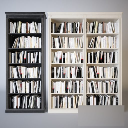 BookShelf Set-01 3D Model