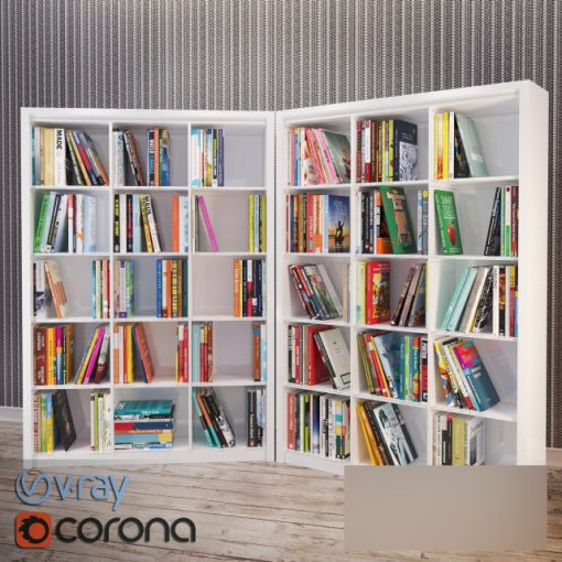 Bookshelf Set-02 3D Model