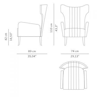 Brabbu Davis Armchair 3D Model