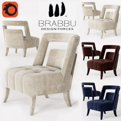 Brabbu Naj Armchair 3D Model