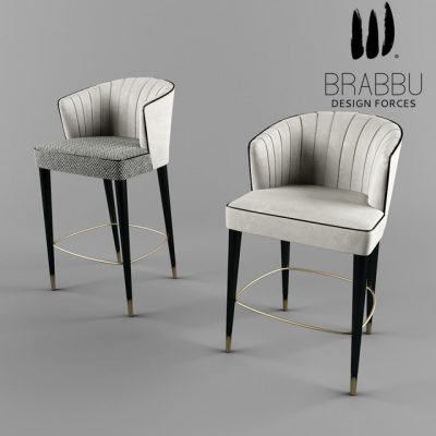 Brabbu Nuka Bar Chair 3D Model