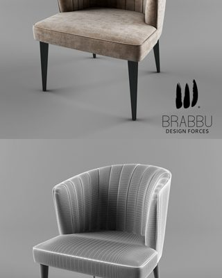 Brabbu Nuka Dining Table & Chair 3D Model