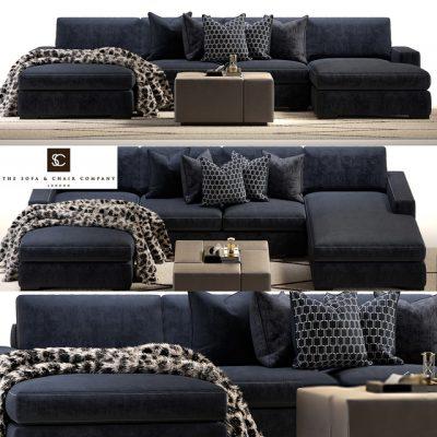 Brancusi Corner Sofa & Matisse Ottoman 3D Model
