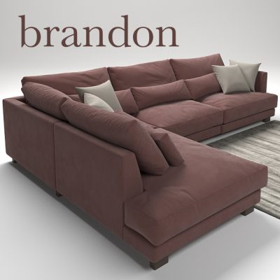 Brandon Sofa Set-01 3D Model