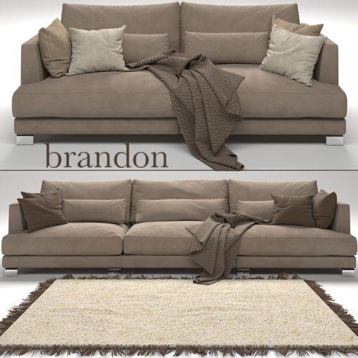 Brandon Sofa Set-02 3D Model