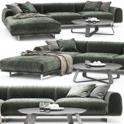 Brandy Corner Sofa 3D Model