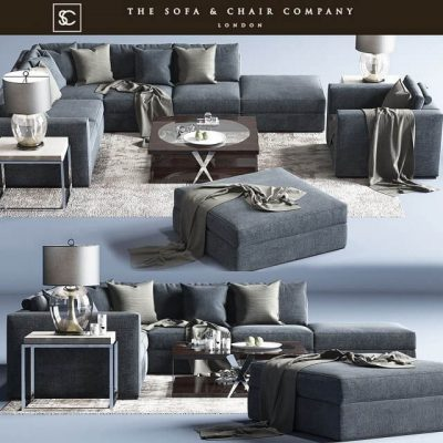 Braque Large Sofa The Sofa and Chair Company 3D Model