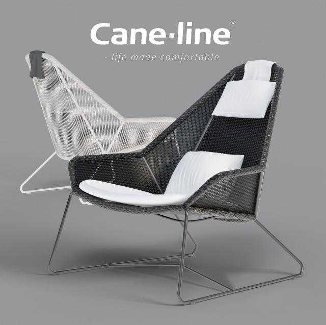 Breeze Highback Armchair 3D Model