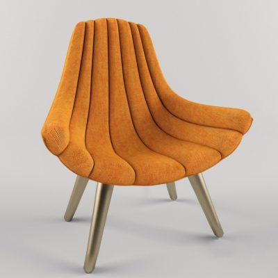 Brigitte Lounge Chair 3D Model