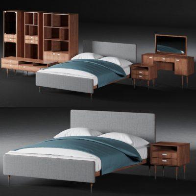 Bruni Bed 3D Model
