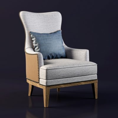 Bryn Wing Chair 3D Model