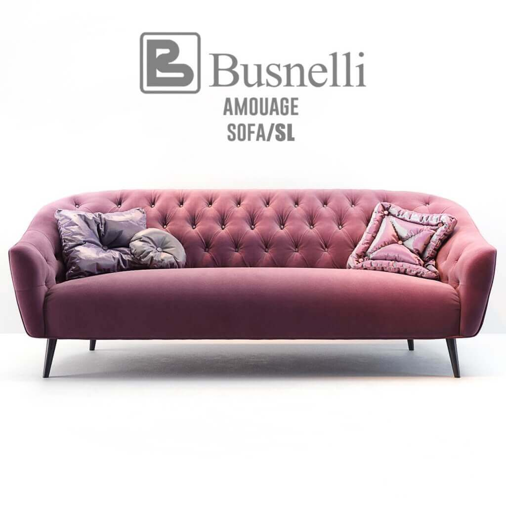 Busnelli Amouage Sofa With Armchair Classic 3d Model For