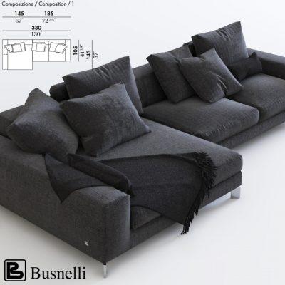 Busnelli Corner Sofa 3D Model