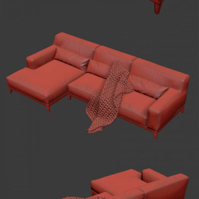 Busnelli Swing 2 Sofa 3D model 3