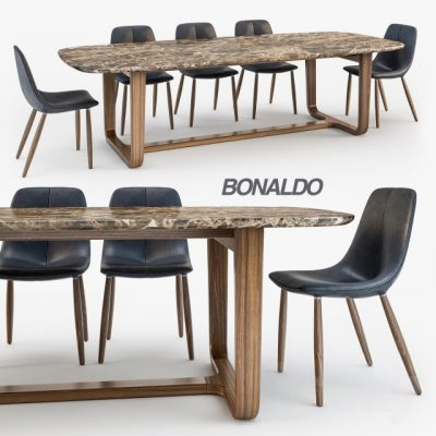 By Chair Medley Table – Table & Chair 3D Model
