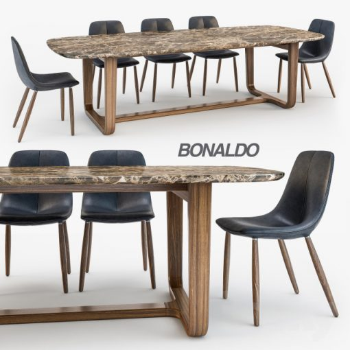By Chair Medley Table - Table & Chair 3D Model