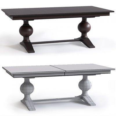 C&B Cecelia Armchair and Winnetka Table – Table & Chair 3D Model