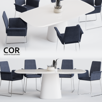 COR Fino Chair and Conic Table – Table & Chair 3D Model