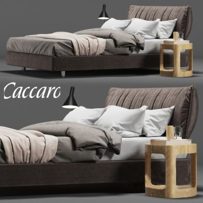 Caccaro PARENTESI Bed 3D Model 1
