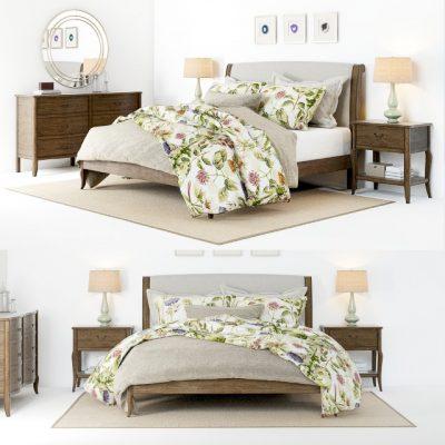Calistoga Bed 3D Model