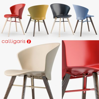 Calligaris Bahia W Chair 3D Model