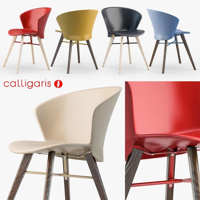 Calligaris Bahia W Chair 3D Model