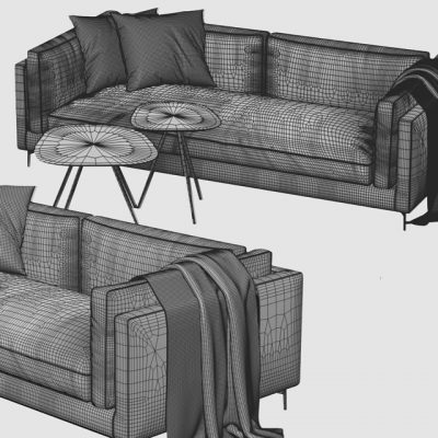 Calligaris Danny Sofa 3D Model