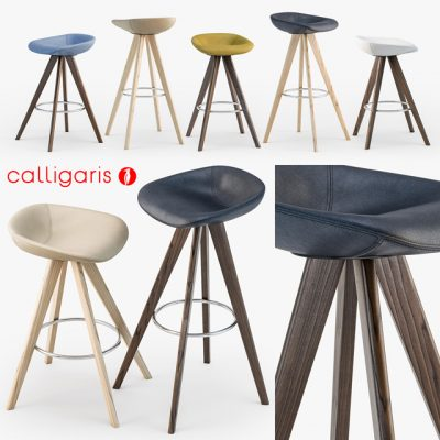 Calligaris Palm W Stool 3D Model
