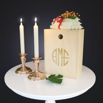 Candle with Flower 3D model