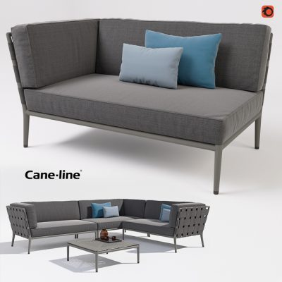Cane-line Conic 2-Seater Sofa 3D Model
