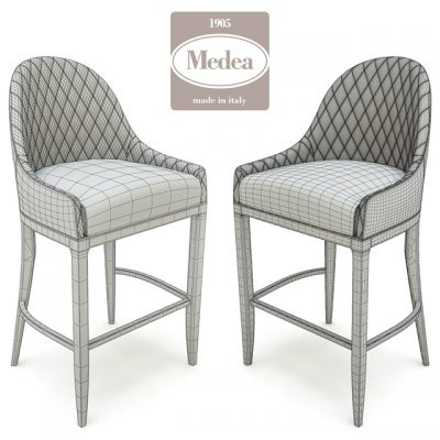 Cannes Sgabello Chair 3D Model