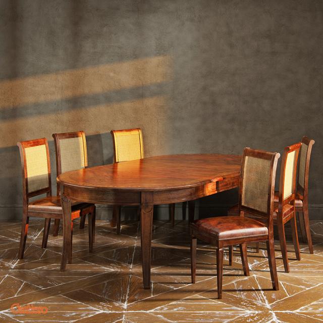 Cantiero Cavenier CV-CV 41 34 PL Table & Chair 3D Model 2