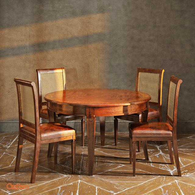 Cantiero Cavenier CV-CV 41 34 PL Table & Chair 3D Model