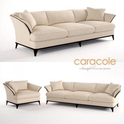 Caracole A-Simple-Life Sofa 3D Model