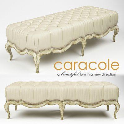 Caracole Beau Banc Bench 3D Model
